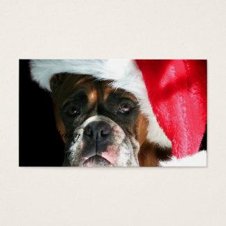 Cartão De Visitas Cão do pugilista do Natal