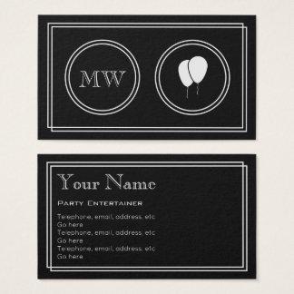 """Cartão De Visitas """"Cartões de visitas do anfitrião do partido do"""