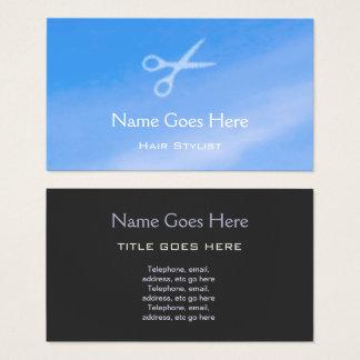 """Cartão De Visitas """"Cartões de visitas do cabeleireiro do céu azul"""""""