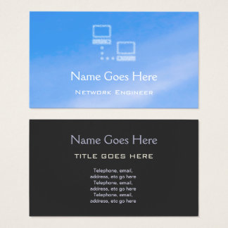 """Cartão De Visitas """"Cartões de visitas do engenheiro da rede do céu"""