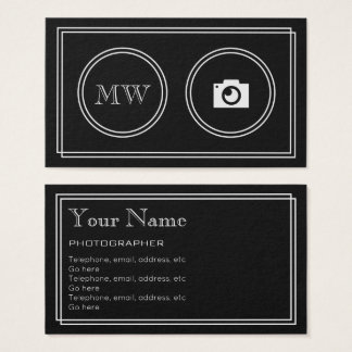 """Cartão De Visitas """"Cartões de visitas do fotógrafo do filme"""