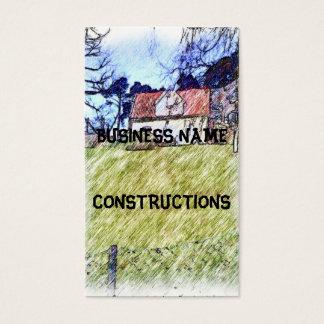 Cartão De Visitas casa branca no monte