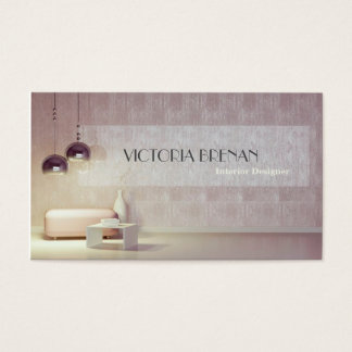 Cartão De Visitas Casa da decoração da casa da sala da mobília do