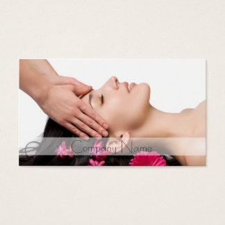 Cartão De Visitas Casa principal dos termas da massagem/salão de