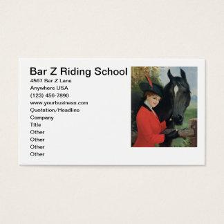 Cartão De Visitas Casaco vermelho equestre da equitação da imagem do