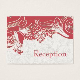 Cartão De Visitas Casamento floral do rosa e o branco do primavera