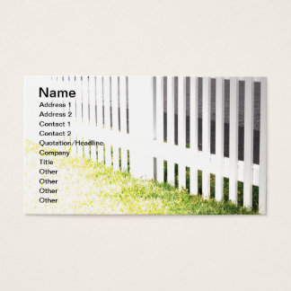Cartão De Visitas cerca de piquete exterior branca