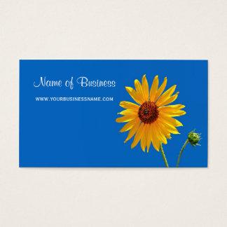 Cartão De Visitas Céu azul do girassol floral amarelo elegante do