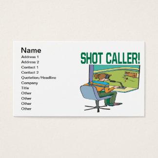 Cartão De Visitas Chamador do tiro