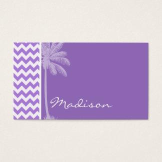 Cartão De Visitas Chevron roxo Amethyst; Palma