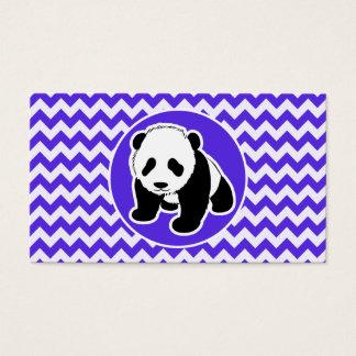 Cartão De Visitas Chevron violeta azul; Panda