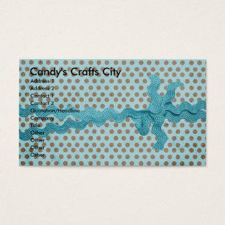 Cartão De Visitas Cidade dos artesanatos dos doces