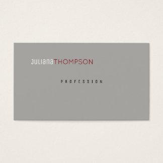 Cartão De Visitas cinzas elegantes profissionais minimalistas