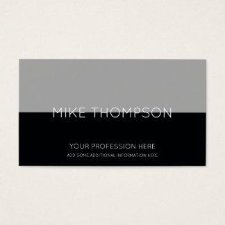 Cartão De Visitas cinzento & preto, simples, legal & moderno