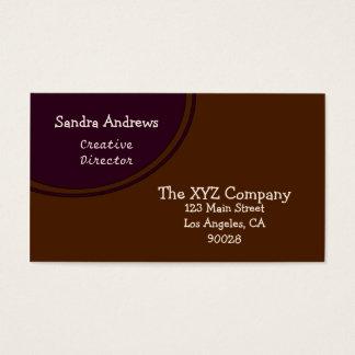 Cartão De Visitas Círculo escuro da ameixa e do Brown