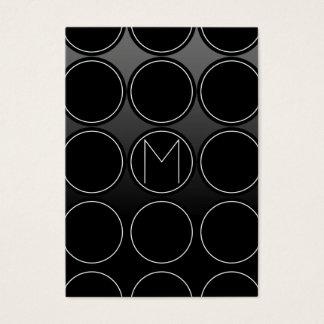 Cartão De Visitas Círculos e monograma pretos
