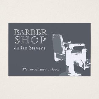 Cartão De Visitas Cobrir da imagem da cadeira da barbearia