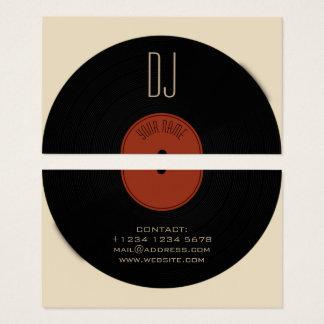 Cartão De Visitas Cobrir da placa do registro de vinil do DJ
