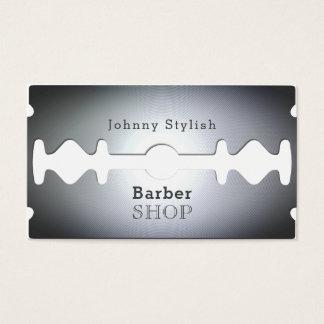 Cartão De Visitas Cobrir inspirado barbearia da lâmina de lâmina