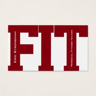 Cartão De Visitas Cobrir moderno do instrutor FIT grande da malhação