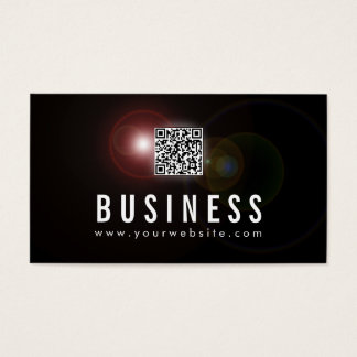 Cartão De Visitas Código do alargamento QR da lente da música de DJs