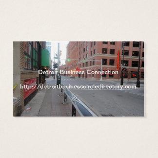 Cartão De Visitas Coleção do círculo de negócio de Detroit