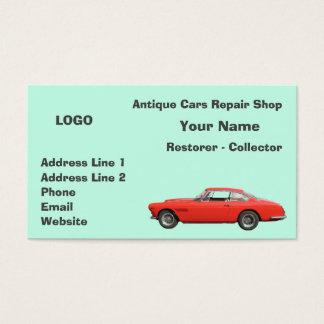 Cartão De Visitas Coletor 3 da oficina de reparações dos carros