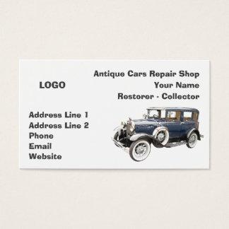 Cartão De Visitas Coletor da oficina de reparações dos carros