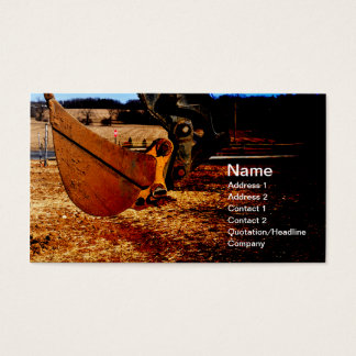 Cartão De Visitas colher para o backhoe