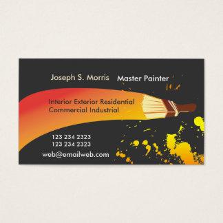 Cartão De Visitas Colora a escova artística do pintor de casa