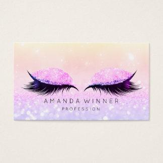 Cartão De Visitas Composição cor-de-rosa roxa do brilho da