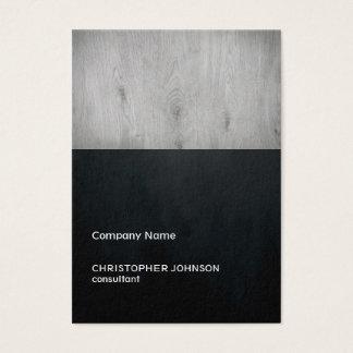 Cartão De Visitas Construção de madeira cinzenta do preto escuro