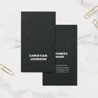 Cartão De Visitas Consultante branco preto corajoso minimalista
