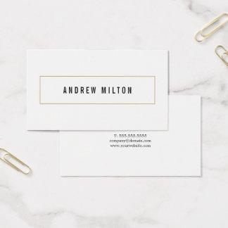 Cartão De Visitas Consultante branco preto minimalista profissional