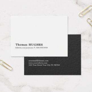 Cartão De Visitas Consultante branco preto mínimo profissional