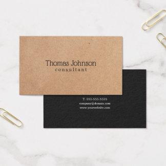 Cartão De Visitas Consultante cinzento escuro IMPRESSO elegante