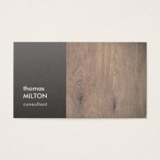 Cartão De Visitas Consultante de madeira cinzento elegante moderno