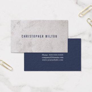 Cartão De Visitas Consultante de pedra do falso azul minimalista