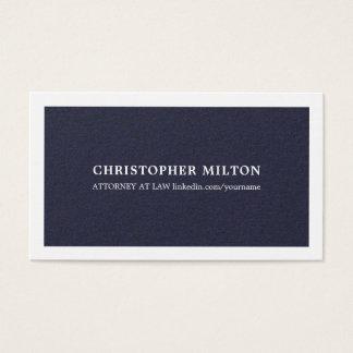 Cartão De Visitas Consultante elegante minimalista do azul da