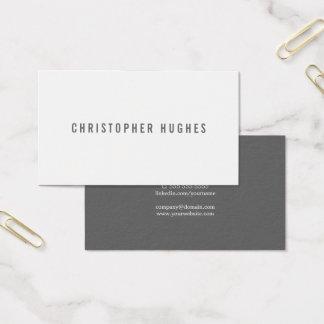 Cartão De Visitas Consultante minimalista profissional do branco