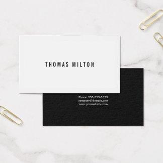 Cartão De Visitas Consultante preto mínimo profissional do branco