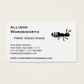 Cartão De Visitas Controlo de pragas engraçado bonito da formiga ou
