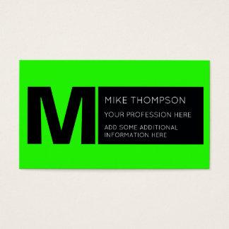 Cartão De Visitas cor verde de néon ácida, moderna