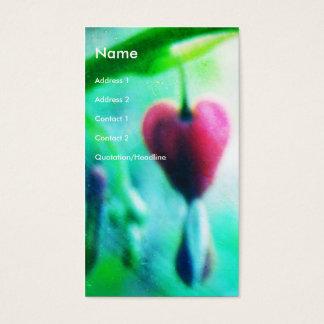 Cartão De Visitas Coração de sangramento