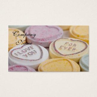 Cartão De Visitas Corações dos doces