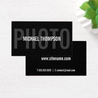 Cartão De Visitas Corajoso moderno profissional do fotógrafo