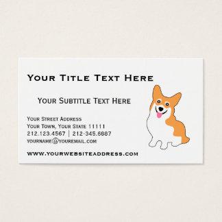 Cartão De Visitas Corgi bonito para o criador, instrutor de cão,