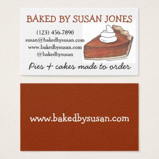 Cartão De Visitas Cozido pela comida do cozinheiro chefe de