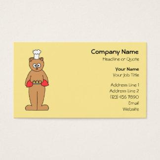 Cartão De Visitas Cozinheiro chefe do padeiro com Cupcakes.