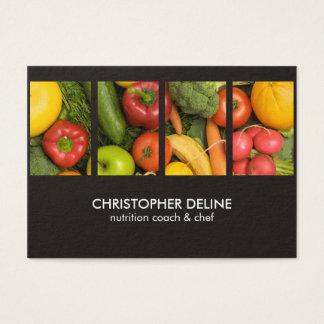 Cartão De Visitas Cozinheiro chefe elegante moderno do nutricionista